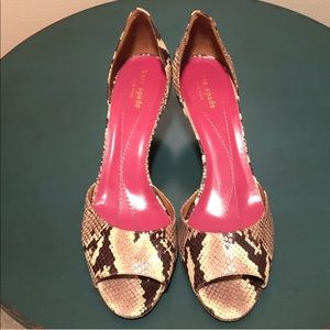 Kate Spade Animal print leather shoes